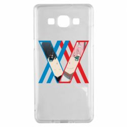 Чехол для Samsung A5 2015 Darling in the franxx Hiro and 002