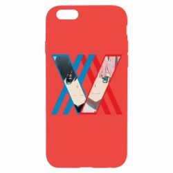 Чехол для iPhone 6/6S Darling in the franxx Hiro and 002