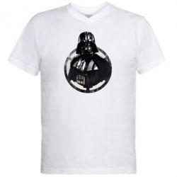 Мужская футболка  с V-образным вырезом Дарт Вейдер Арт - FatLine