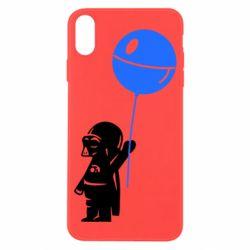 Чехол для iPhone X Дарт Вейдер с шариком - FatLine