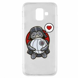 Купить Star Wars, Чехол для Samsung A6 2018 Darth Vader love Death Star, FatLine