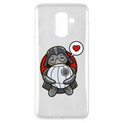 Купить Star Wars, Чехол для Samsung A6+ 2018 Darth Vader love Death Star, FatLine