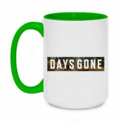 Кружка двухцветная 420ml Days Gone and game background