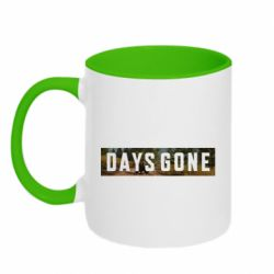 Кружка двухцветная 320ml Days Gone and game background