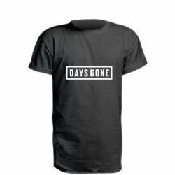 Удлиненная футболка Days Gone color logo