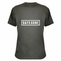 Камуфляжна футболка Days Gone color logo