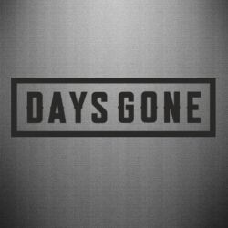 Наклейка Days Gone color logo