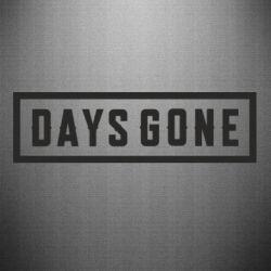 Наклейка Days Gone color logo
