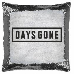 Подушка-хамелеон Days Gone color logo