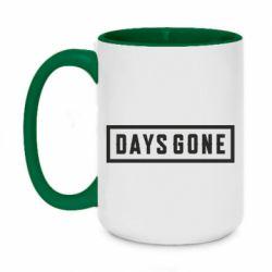 Кружка двухцветная 420ml Days Gone color logo