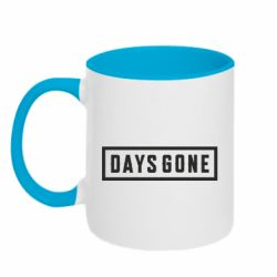 Кружка двухцветная 320ml Days Gone color logo