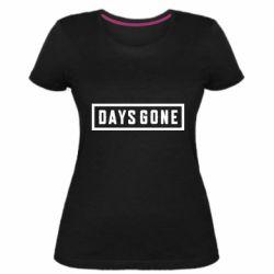 Женская стрейчевая футболка Days Gone color logo
