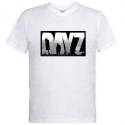 Мужская футболка  с V-образным вырезом Dayz logo - FatLine