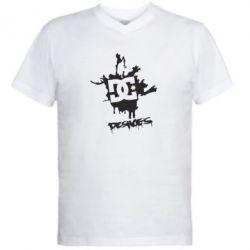 Мужская футболка  с V-образным вырезом DC Shoes - FatLine