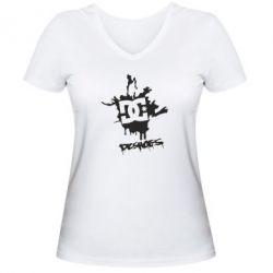Женская футболка с V-образным вырезом DC Shoes - FatLine