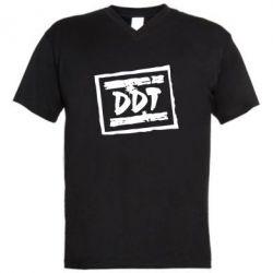 Мужская футболка  с V-образным вырезом DDT (ДДТ) - FatLine