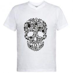 Чоловіча футболка з V-подібним вирізом Dead  School