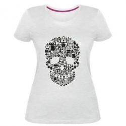 Жіноча стрейчева футболка Dead  School