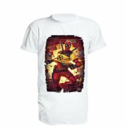 Подовжена футболка Deadpool Comics