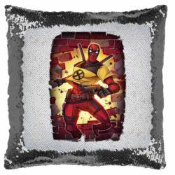 Подушка-хамелеон Deadpool Comics