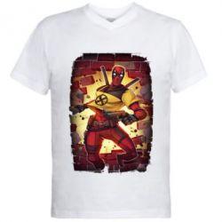 Чоловіча футболка з V-подібним вирізом Deadpool Comics