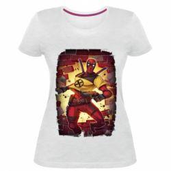 Жіноча стрейчева футболка Deadpool Comics