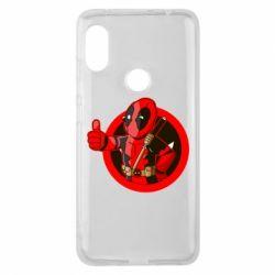 Чехол для Xiaomi Redmi Note 6 Pro Deadpool Fallout Boy