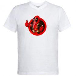 Мужская футболка  с V-образным вырезом Deadpool Fallout Boy - FatLine