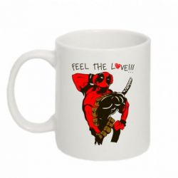 Кружка 320ml Deadpool Feel the love!