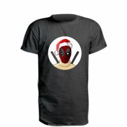 Удлиненная футболка Deadpool in New Year's hat