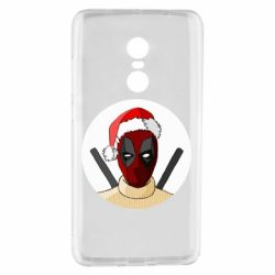 Чехол для Xiaomi Redmi Note 4 Deadpool in New Year's hat