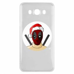 Чехол для Samsung J7 2016 Deadpool in New Year's hat