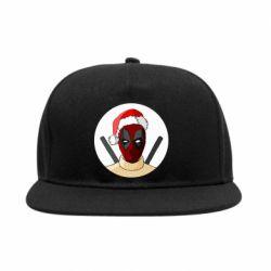 Снепбек Deadpool in New Year's hat