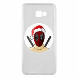 Чехол для Samsung J4 Plus 2018 Deadpool in New Year's hat