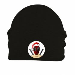 Шапка на флисе Deadpool in New Year's hat