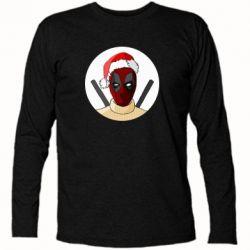 Футболка с длинным рукавом Deadpool in New Year's hat