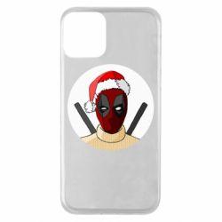 Чехол для iPhone 11 Deadpool in New Year's hat