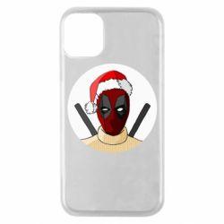 Чехол для iPhone 11 Pro Deadpool in New Year's hat