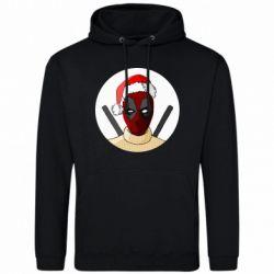 Мужская толстовка Deadpool in New Year's hat