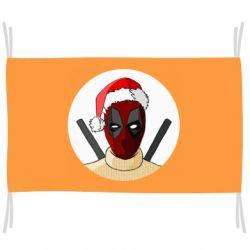 Флаг Deadpool in New Year's hat
