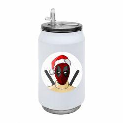 Термобанка 350ml Deadpool in New Year's hat