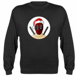 Реглан (свитшот) Deadpool in New Year's hat