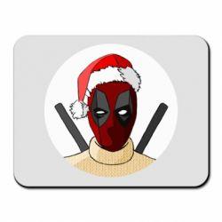 Коврик для мыши Deadpool in New Year's hat