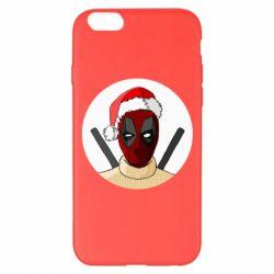 Чехол для iPhone 6 Plus/6S Plus Deadpool in New Year's hat