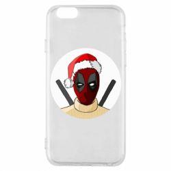 Чехол для iPhone 6/6S Deadpool in New Year's hat