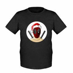 Детская футболка Deadpool in New Year's hat