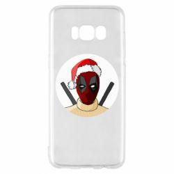 Чехол для Samsung S8 Deadpool in New Year's hat