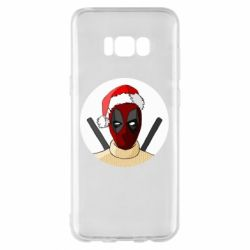 Чехол для Samsung S8+ Deadpool in New Year's hat