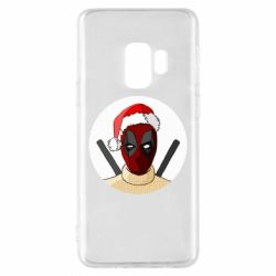 Чехол для Samsung S9 Deadpool in New Year's hat
