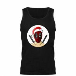 Мужская майка Deadpool in New Year's hat